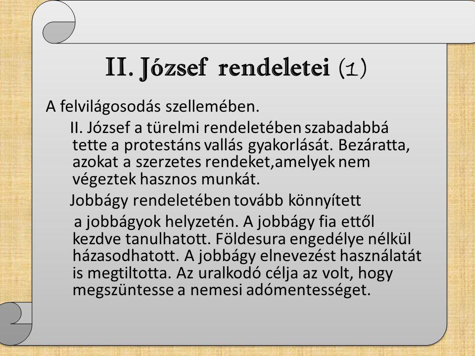 II. József rendeletei (1)