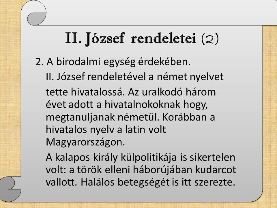 II. József rendeletei (2)
