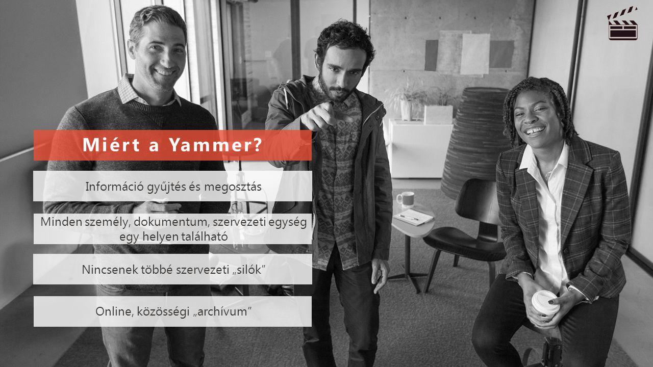 Miért a Yammer Információ gyűjtés és megosztás