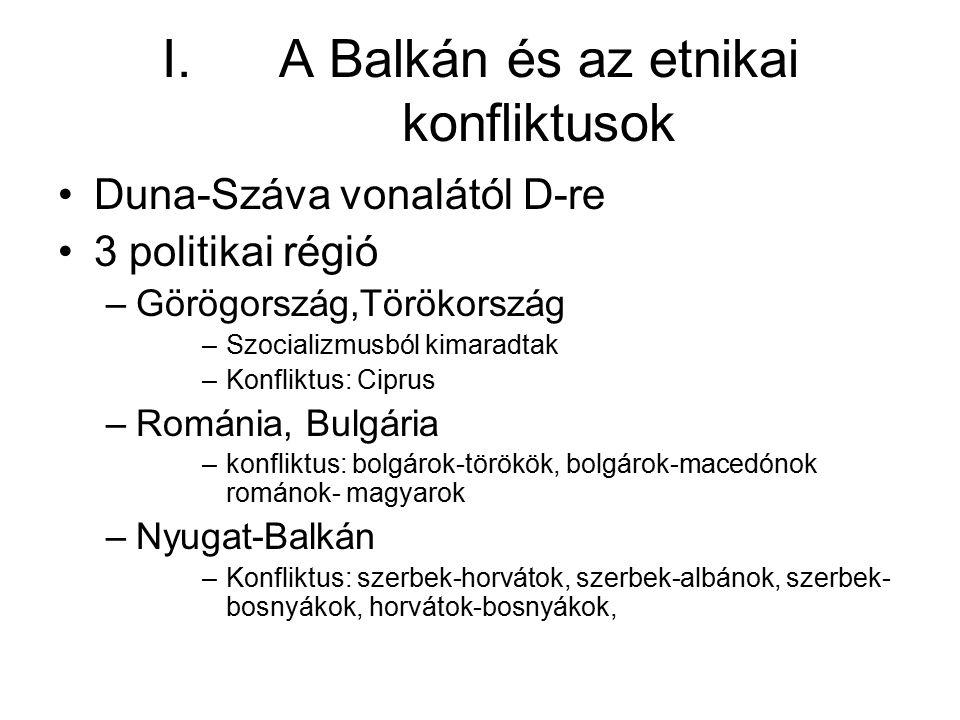 A Balkán és az etnikai konfliktusok