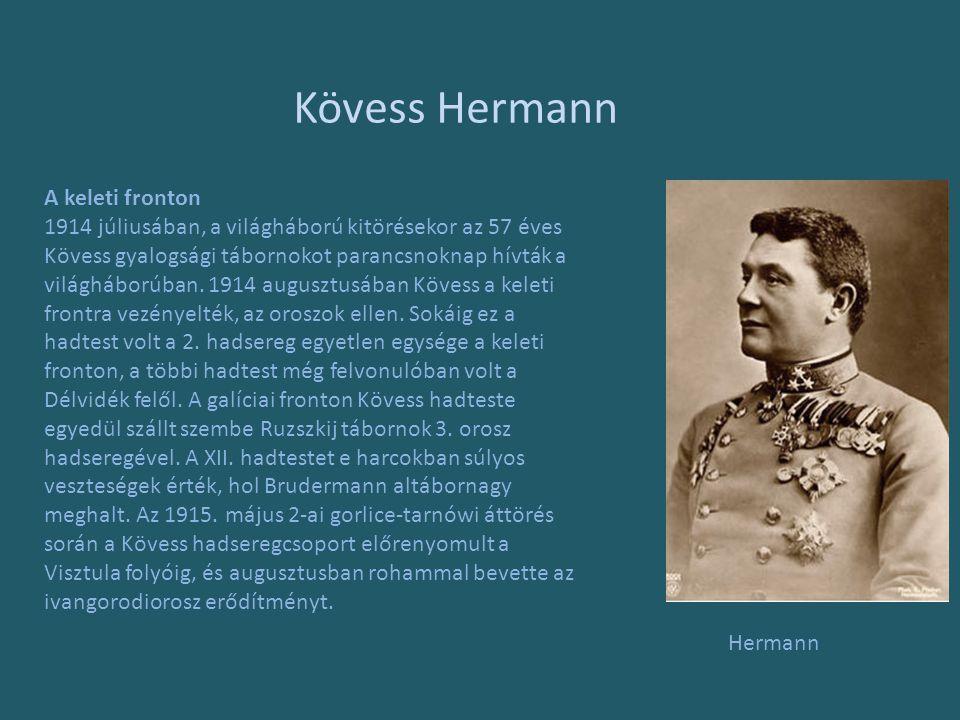 Kövess Hermann A keleti fronton