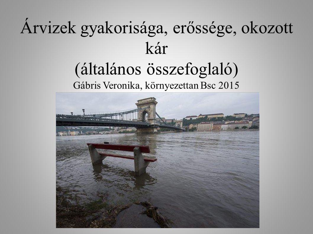 Árvizek gyakorisága, erőssége, okozott kár (általános összefoglaló) Gábris Veronika, környezettan Bsc 2015