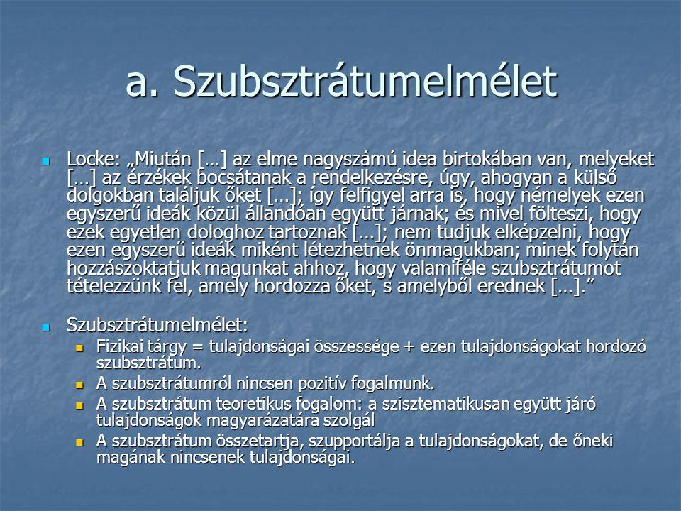 a. Szubsztrátumelmélet