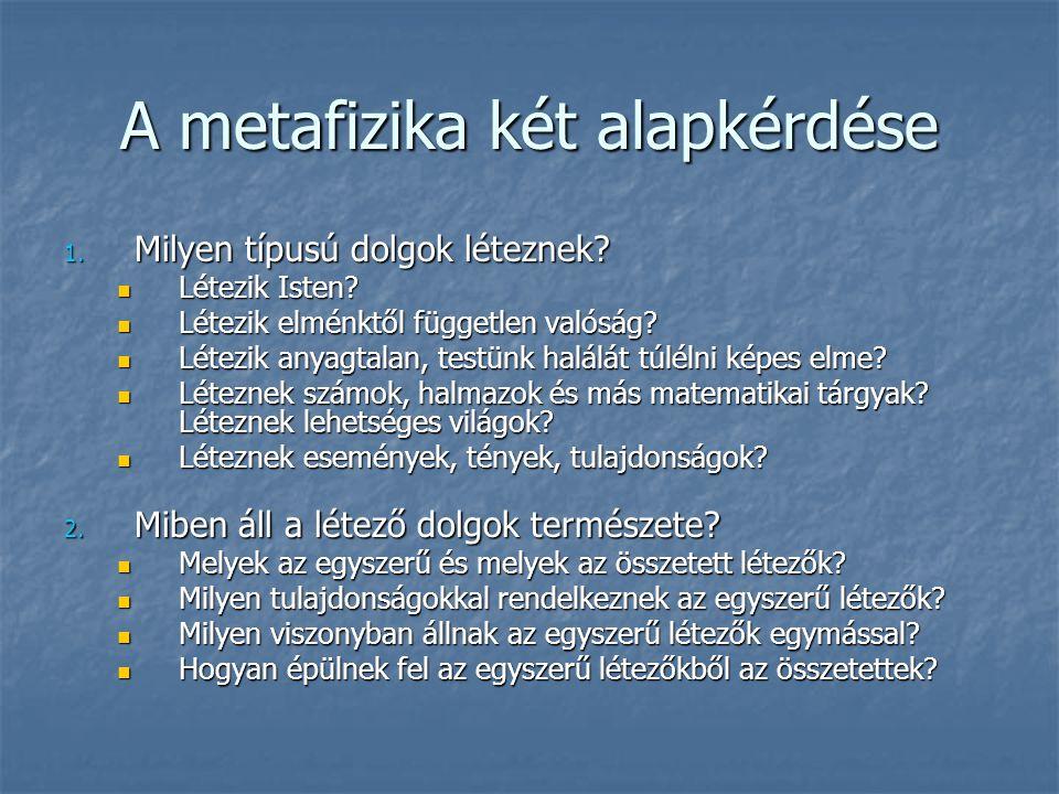 A metafizika két alapkérdése