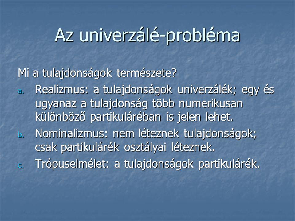 Az univerzálé-probléma