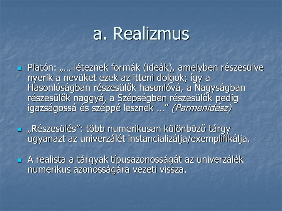 a. Realizmus