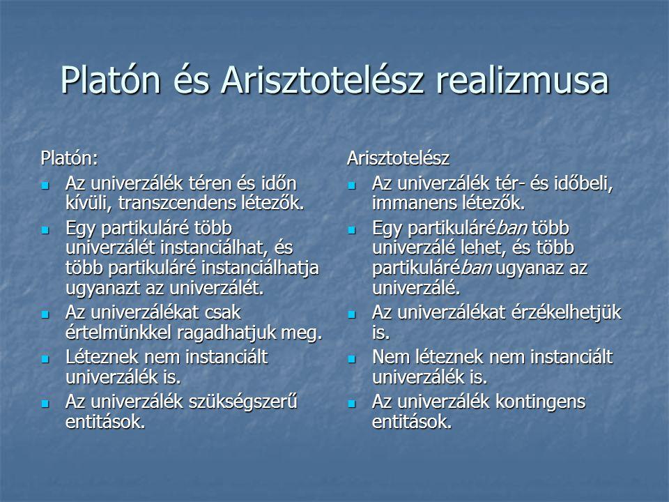 Platón és Arisztotelész realizmusa