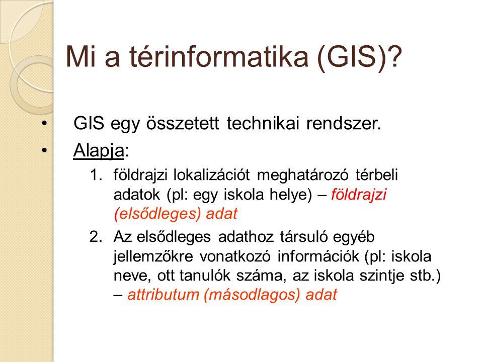 Mi a térinformatika (GIS)