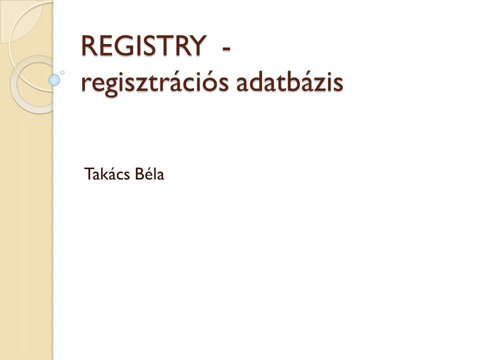 REGISTRY - regisztrációs adatbázis