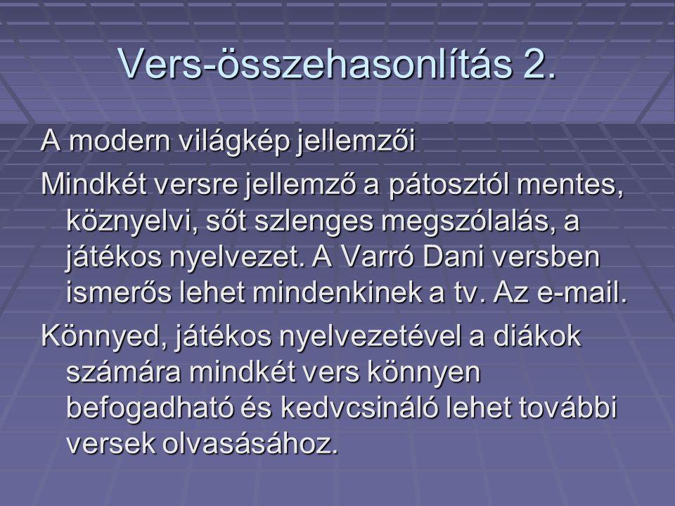 Vers-összehasonlítás 2.