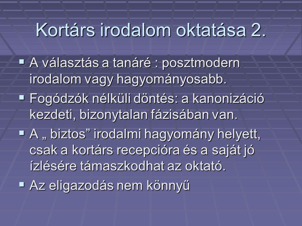 Kortárs irodalom oktatása 2.