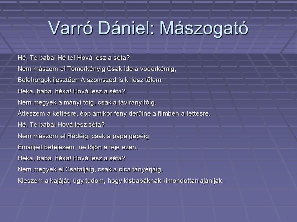 Varró Dániel: Mászogató