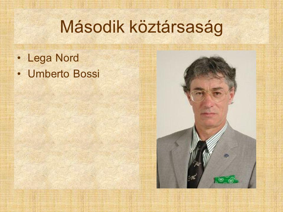 Második köztársaság Lega Nord Umberto Bossi