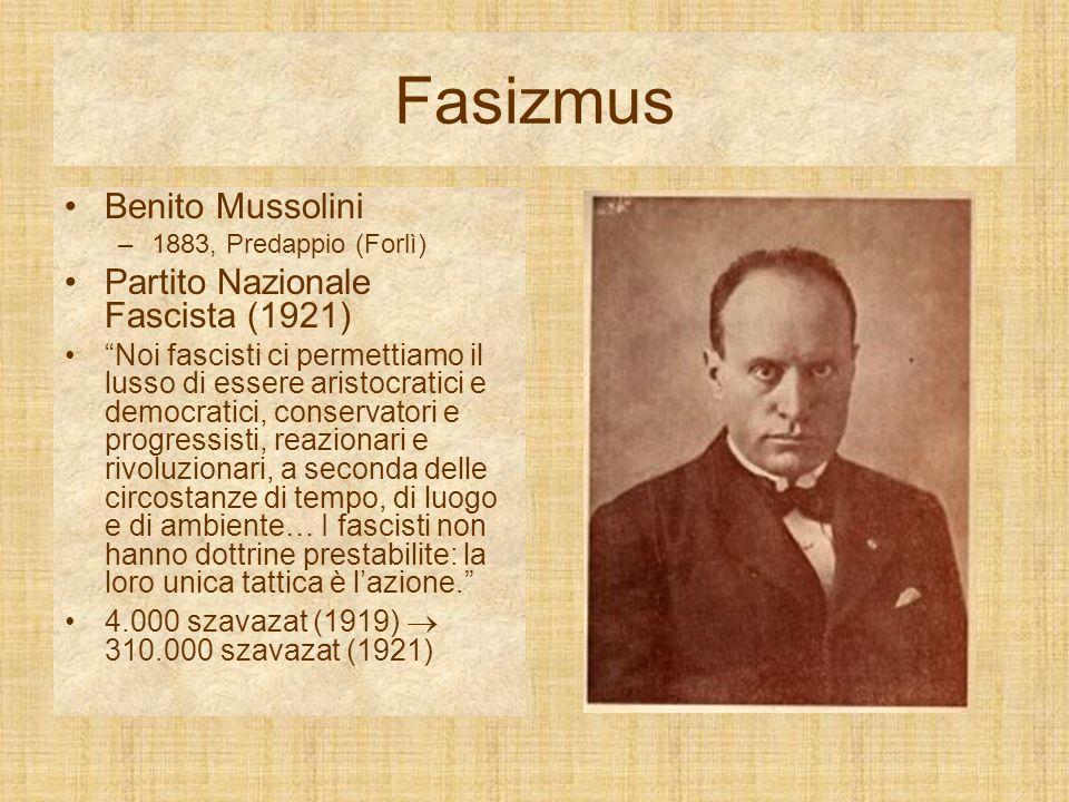Fasizmus Benito Mussolini Partito Nazionale Fascista (1921)