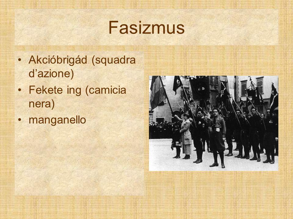 Fasizmus Akcióbrigád (squadra d'azione) Fekete ing (camicia nera)