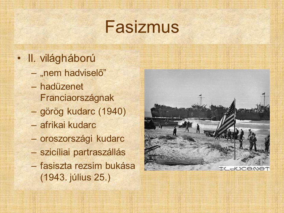"""Fasizmus II. világháború """"nem hadviselő hadüzenet Franciaországnak"""