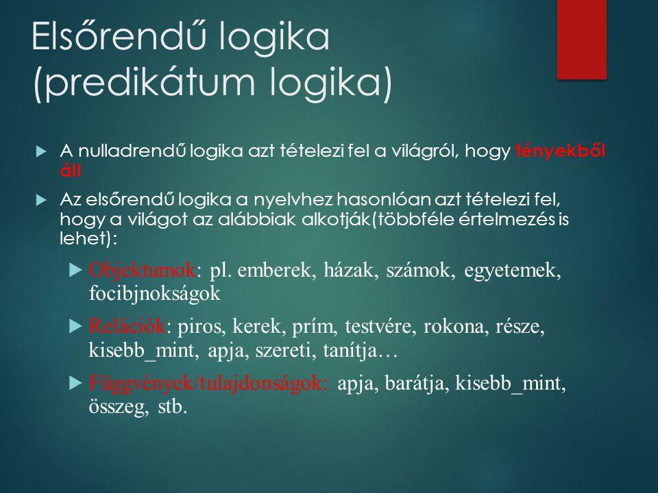 Elsőrendű logika (predikátum logika)