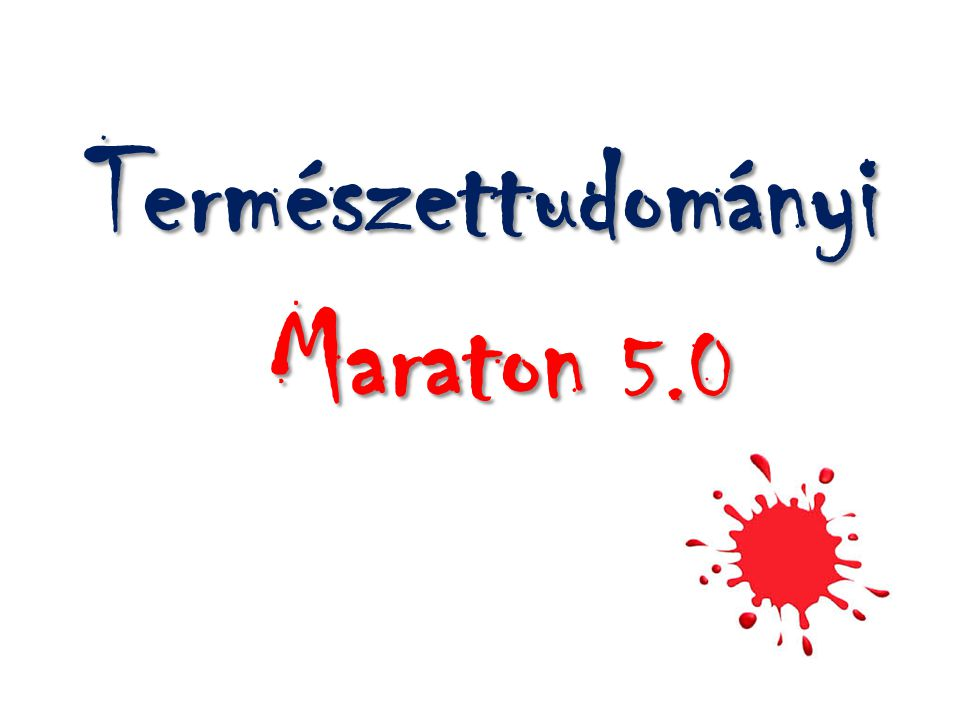 Természettudományi Maraton 5.0