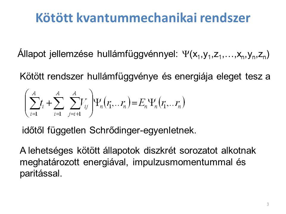 Kötött kvantummechanikai rendszer