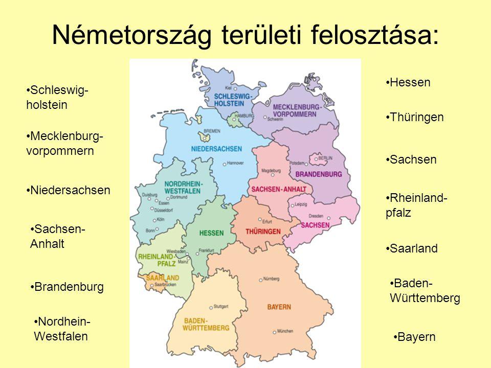 Németország területi felosztása: