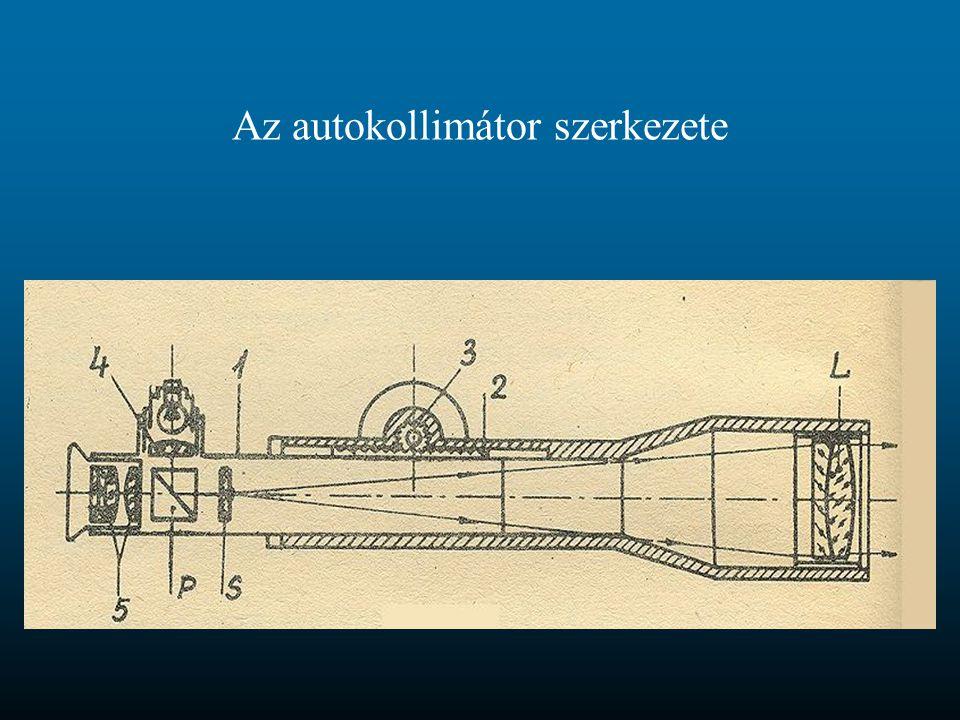 Az autokollimátor szerkezete