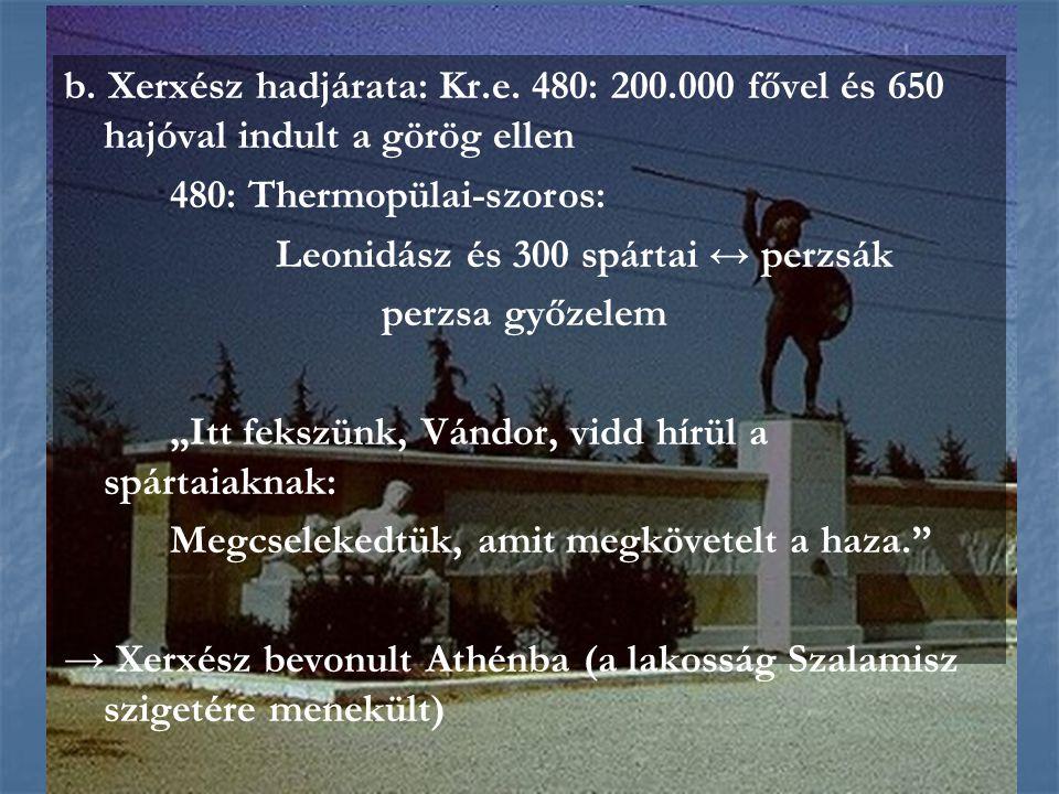 480: Thermopülai-szoros: Leonidász és 300 spártai ↔ perzsák