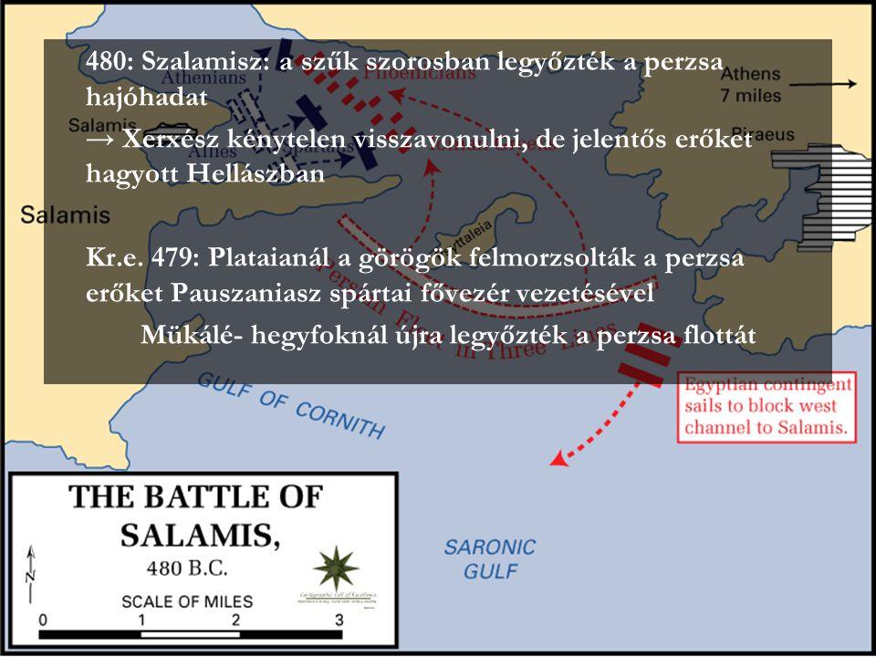 480: Szalamisz: a szűk szorosban legyőzték a perzsa hajóhadat