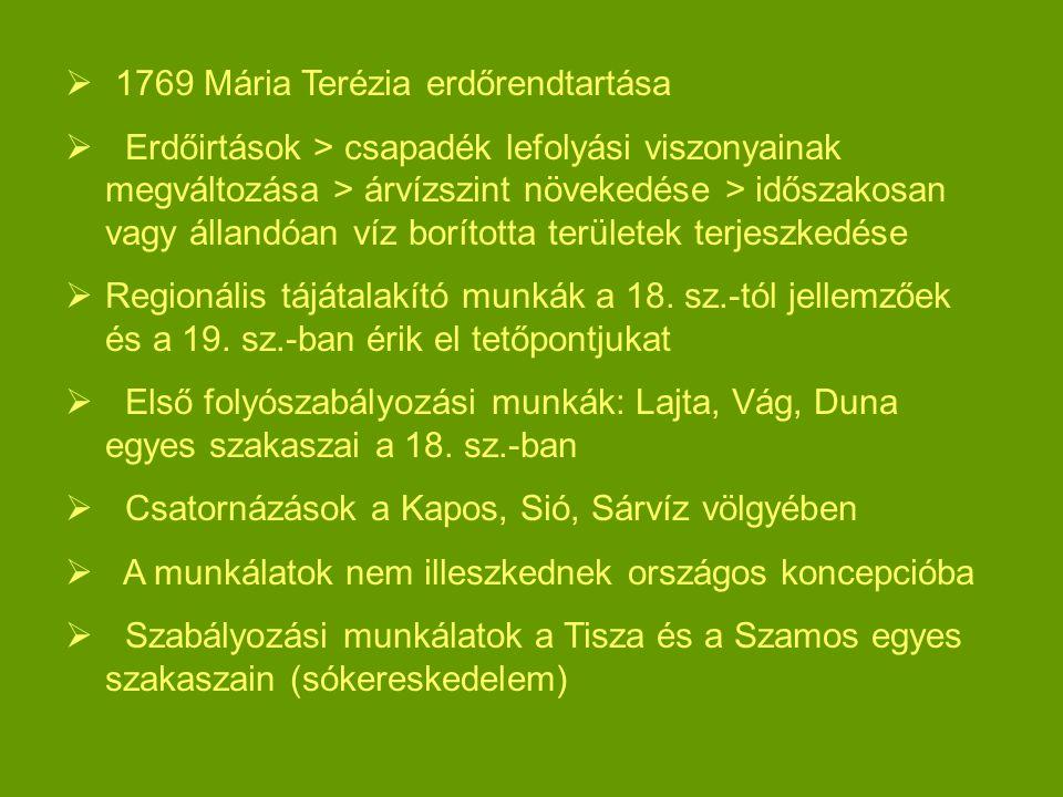 1769 Mária Terézia erdőrendtartása