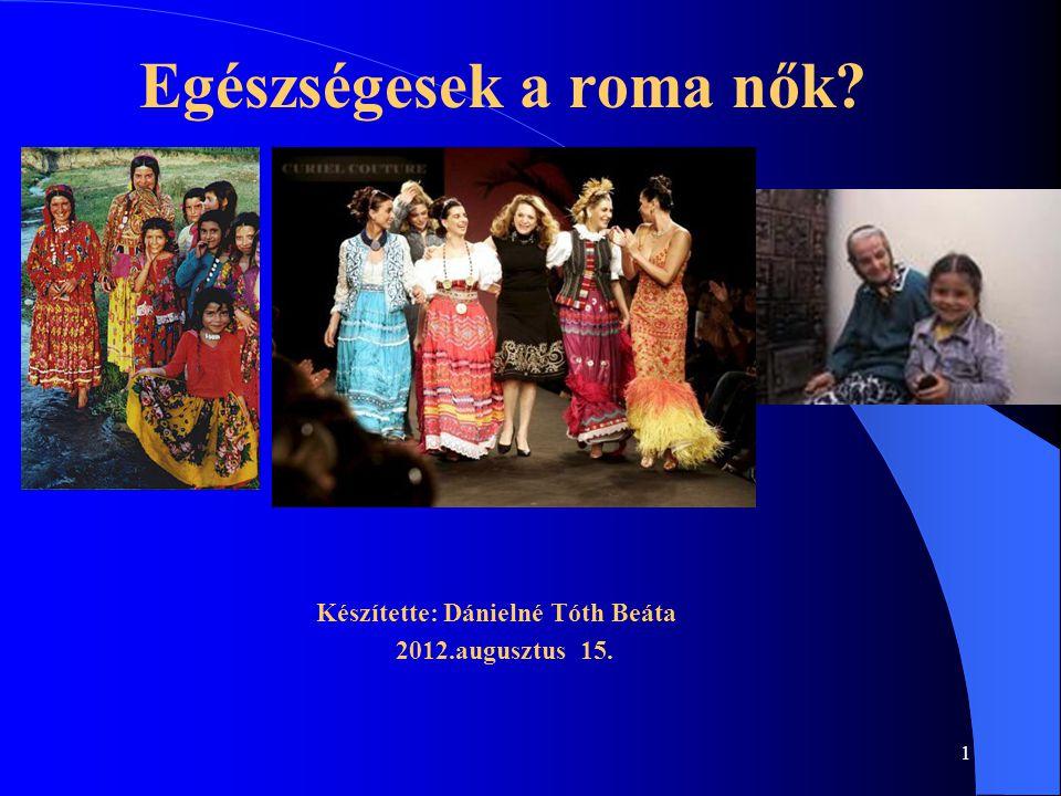 Egészségesek a roma nők