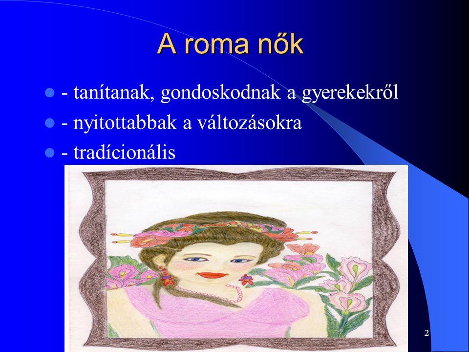 A roma nők - tanítanak, gondoskodnak a gyerekekről
