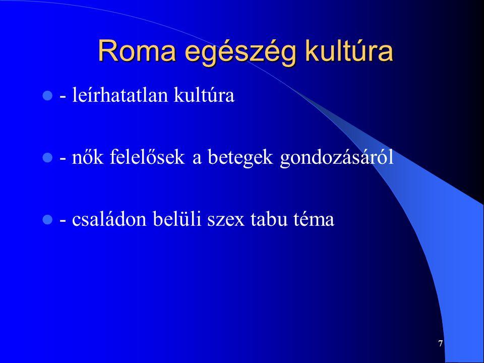Roma egészég kultúra - leírhatatlan kultúra