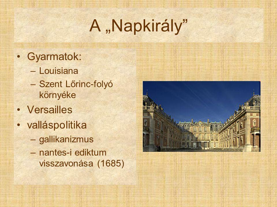 "A ""Napkirály Gyarmatok: Versailles valláspolitika Louisiana"