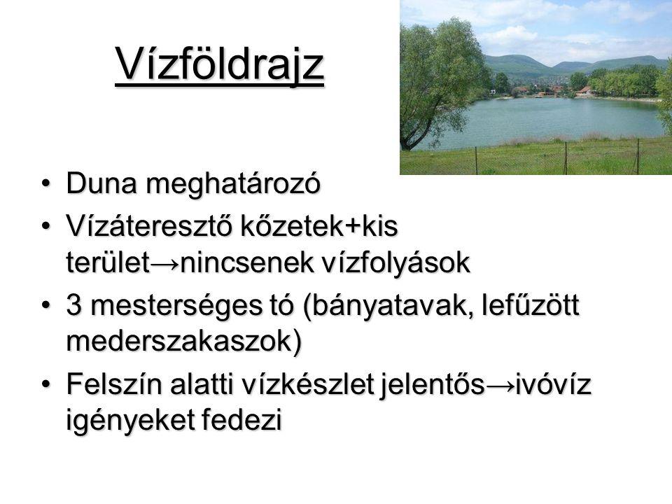 Vízföldrajz Duna meghatározó