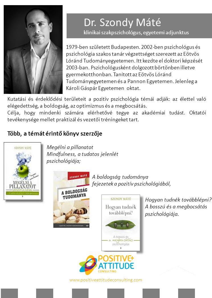 Dr. Szondy Máté Több, a témát érintő könyv szerzője