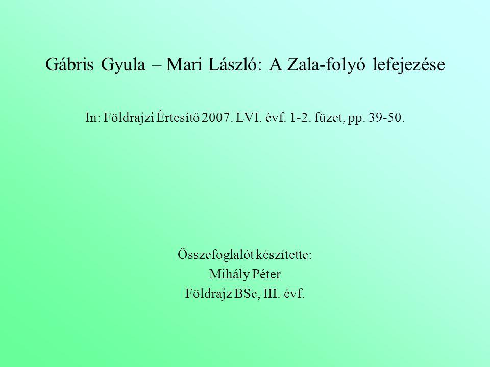 Gábris Gyula – Mari László: A Zala-folyó lefejezése