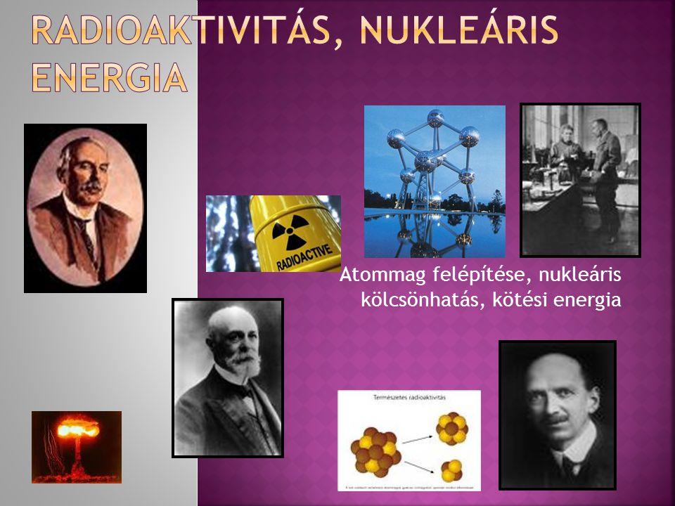 RAdiOaktivitás, nukleáris energia