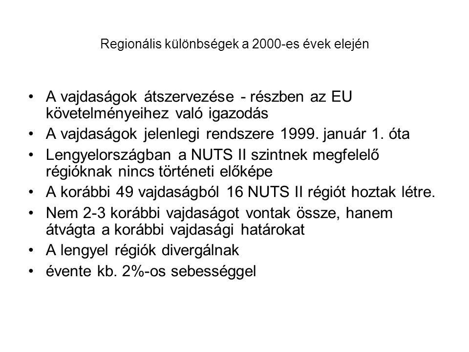 Regionális különbségek a 2000-es évek elején