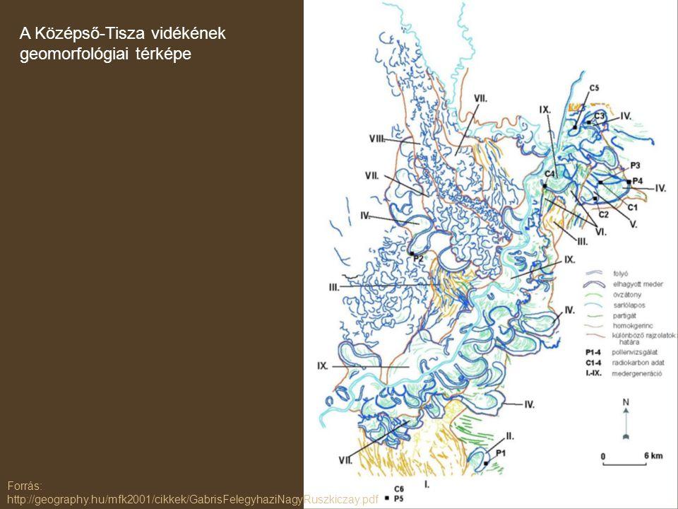 A Középső-Tisza vidékének geomorfológiai térképe
