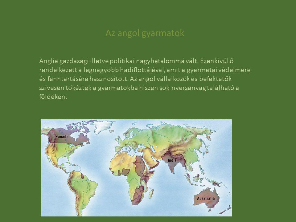 Az angol gyarmatok