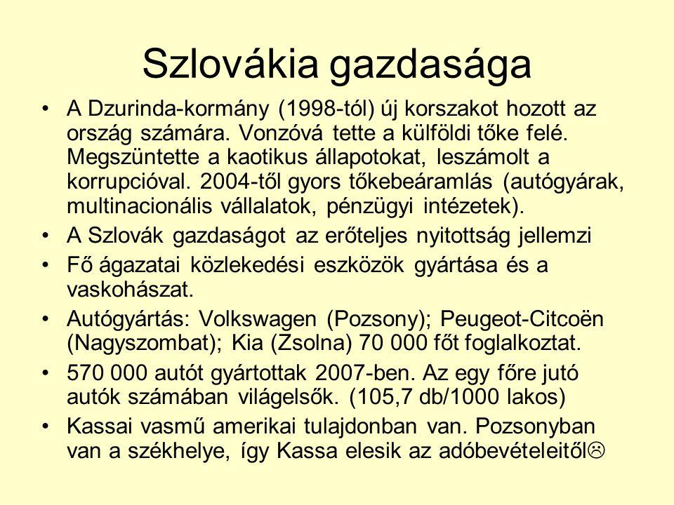 Szlovákia gazdasága