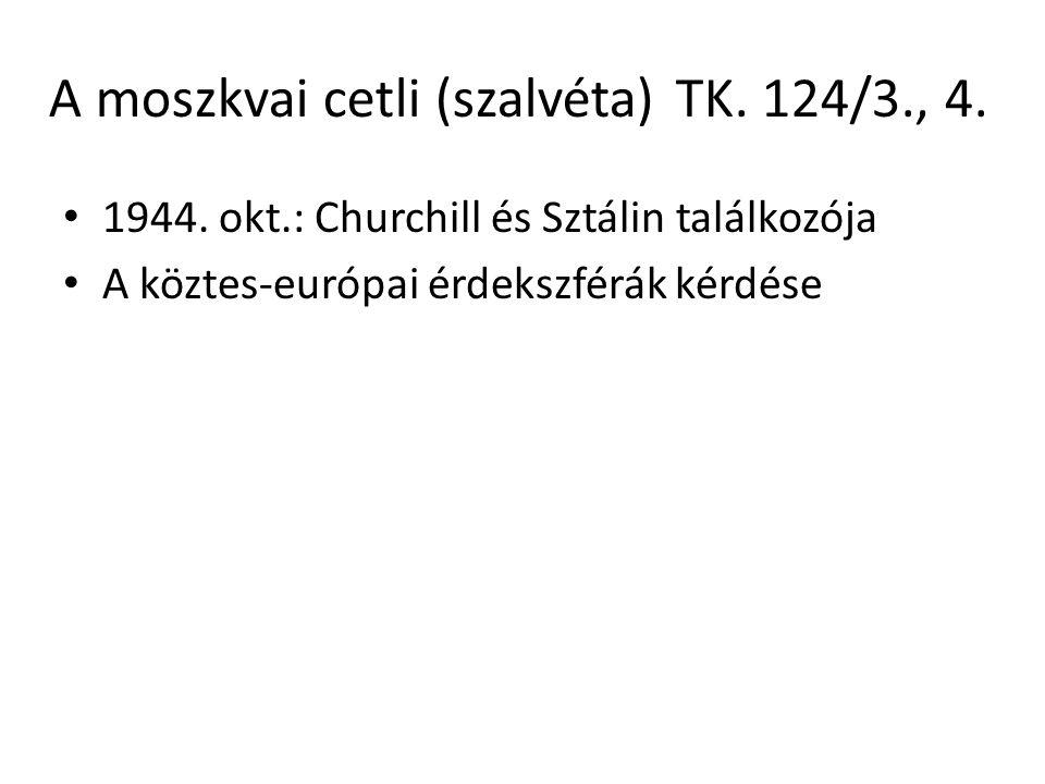 A moszkvai cetli (szalvéta) TK. 124/3., 4.