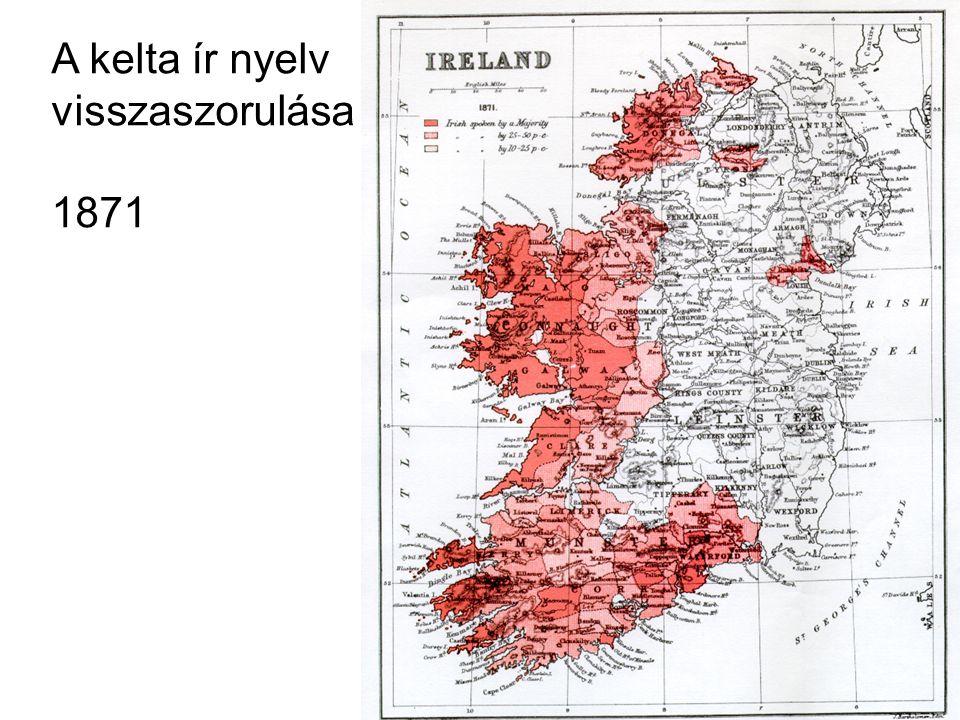 A kelta ír nyelv visszaszorulása