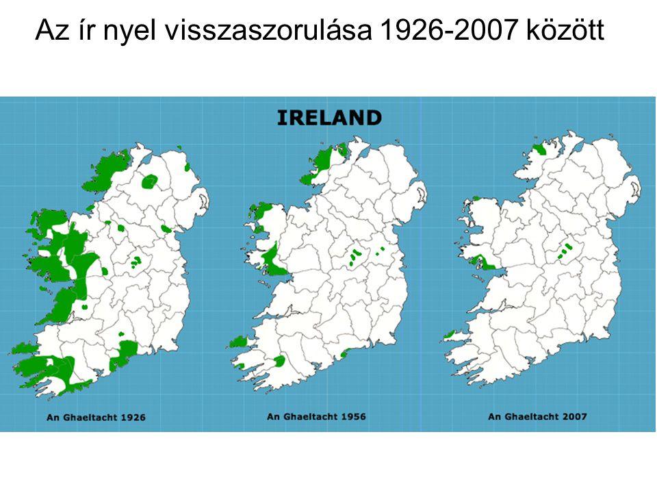 Az ír nyel visszaszorulása 1926-2007 között