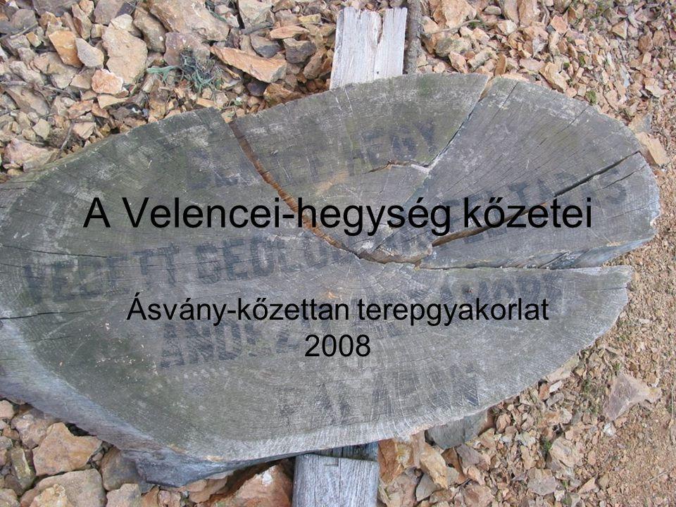 A Velencei-hegység kőzetei