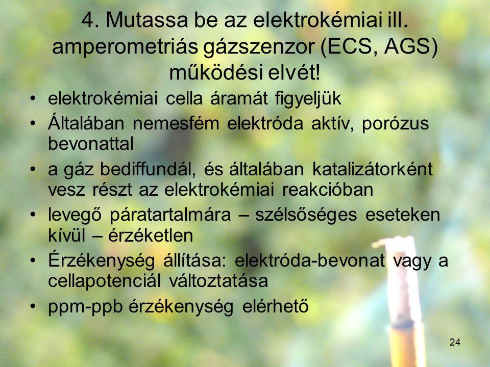 4. Mutassa be az elektrokémiai ill
