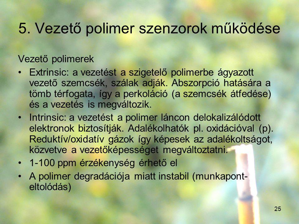 5. Vezető polimer szenzorok működése