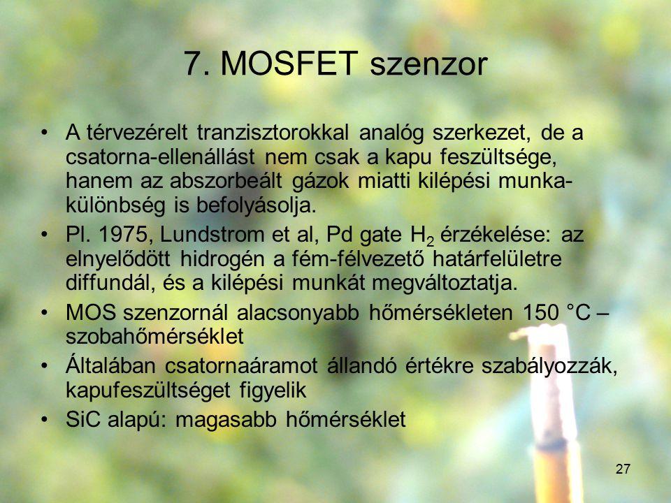 7. MOSFET szenzor