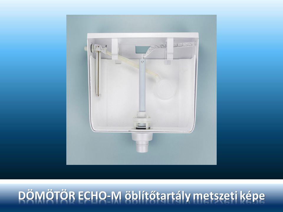 DÖMÖTÖR ECHO-M öblítőtartály metszeti képe