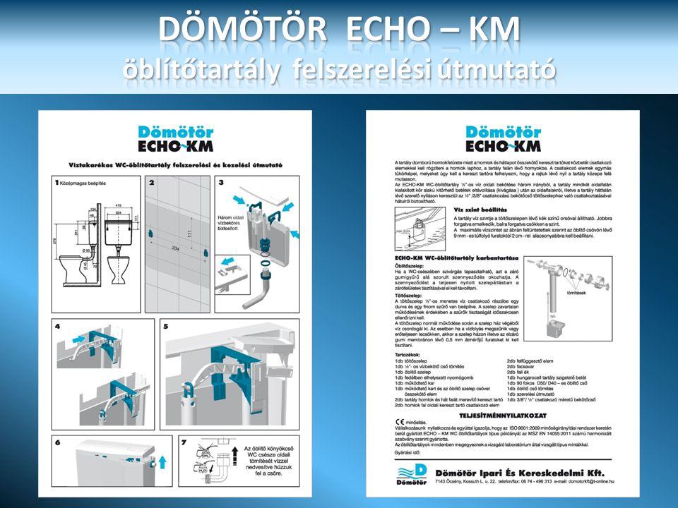 DÖMÖTÖR ECHO – KM öblítőtartály felszerelési útmutató