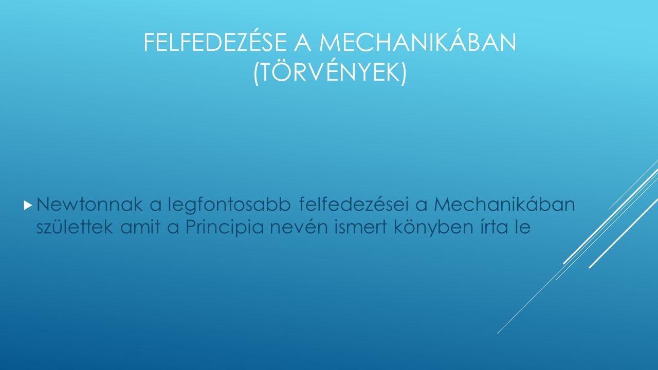 Felfedezése a Mechanikában (törvények)